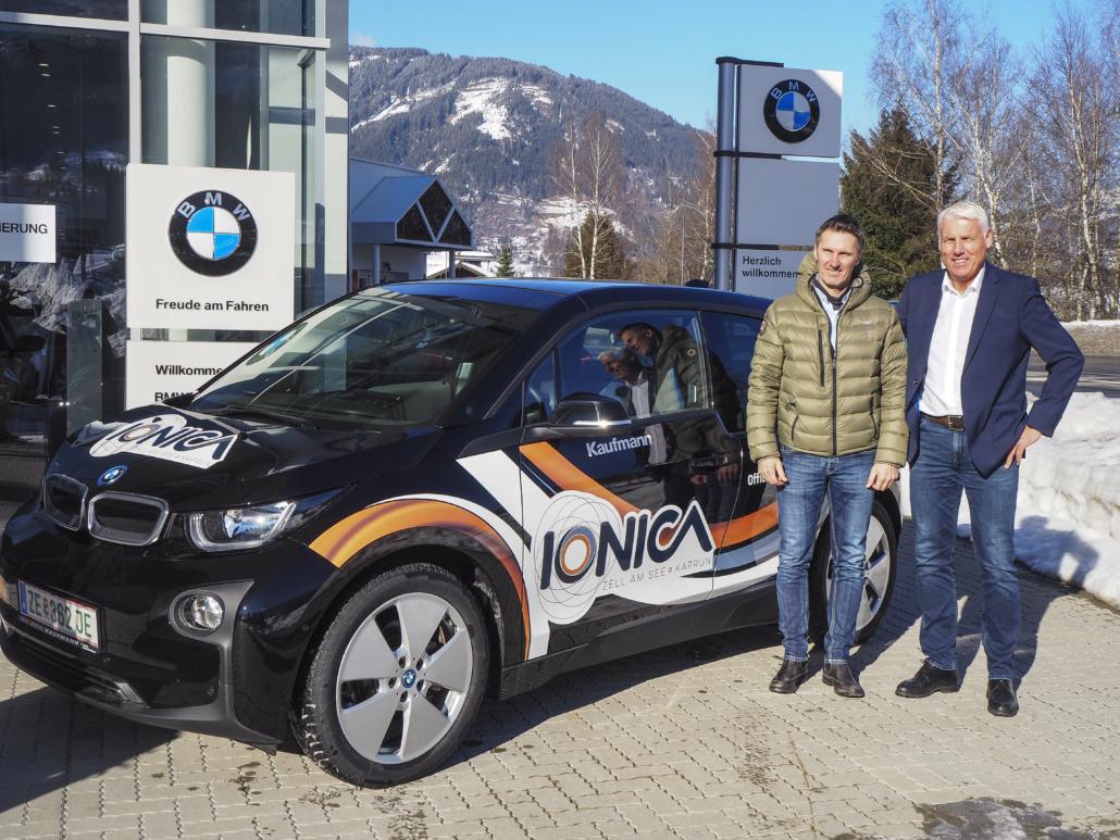 BMW Autoübergabe mit Kaufmann Kaprun